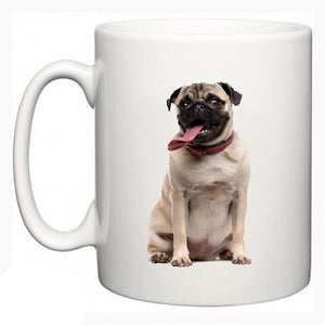 Personalised Pug On A Mug - Fizzy Strawberry Gifts