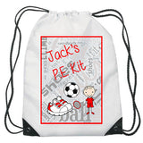 Personalised P.E. Kit Bag - Fizzy Strawberry Gifts