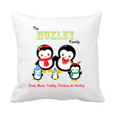 Penguin Christmas Cushion - Fizzy Strawberry Gifts