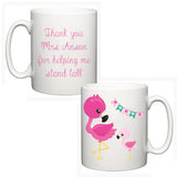 Personalised Thank You Teacher Mug - Flamingo - Fizzy Strawberry Gifts