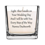 Wedding Day Candle - Fizzy Strawberry Gifts
