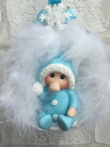 Baby's First Christmas Bauble (Blue) - Fizzy Strawberry Gifts