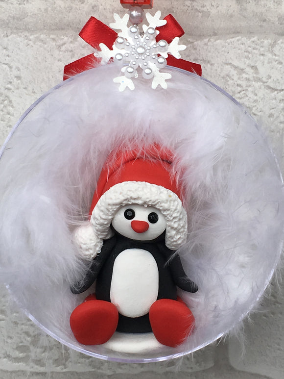Penguin Christmas Bauble - Fizzy Strawberry Gifts