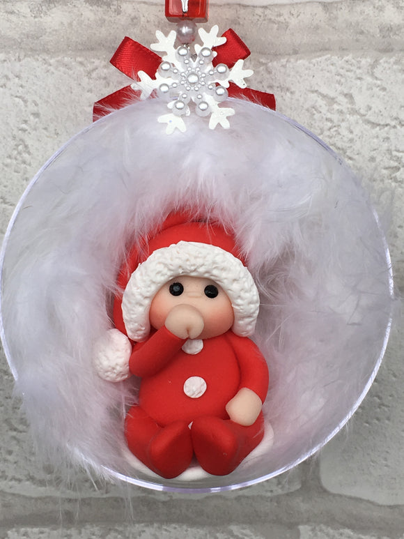 Baby's First Christmas Bauble (Red) - Fizzy Strawberry Gifts