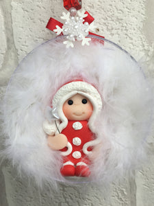 Red Fairy Christmas Bauble - Fizzy Strawberry Gifts