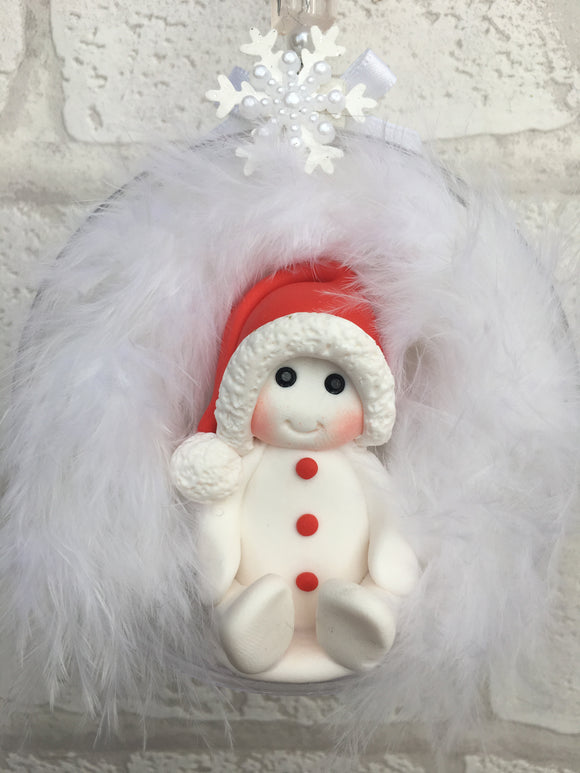 Snowman Christmas Bauble - Fizzy Strawberry Gifts