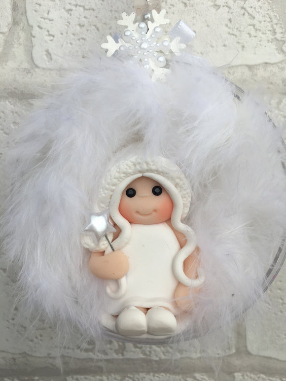 Snow Fairy Christmas Bauble - Fizzy Strawberry Gifts