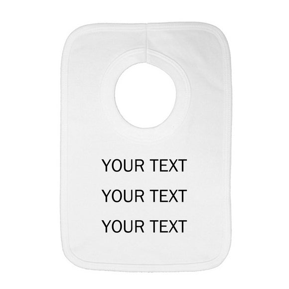 Personalised Baby Bib - Your Text (Black) - Fizzy Strawberry Gifts