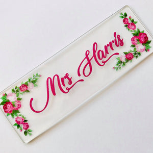 Thank you Teacher Personalised Acrylic Bookmark