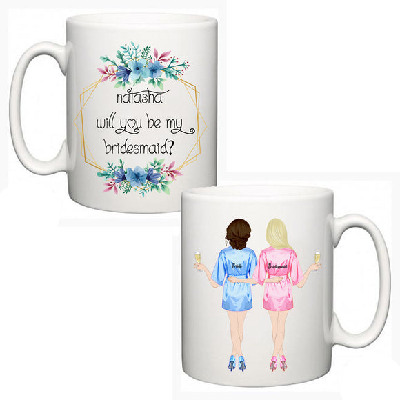Personalised  Bridesmaid/Maid of Honour Mug 2