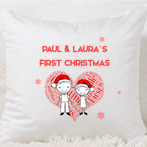 Our First Christmas Cushion