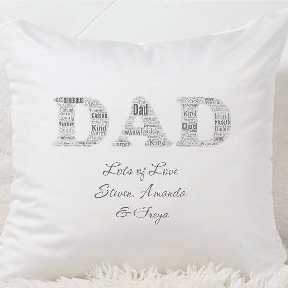 Dad Wordcloud Cushion