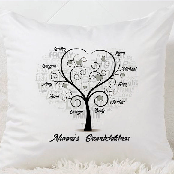Family Tree Cushion (10 Names)