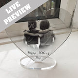Mother's Day Photo Acrylic Freestanding Heart - Fizzy Strawberry Gifts