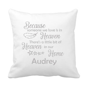 Piece Of Heaven Vinyl  Cushion - Fizzy Strawberry Gifts