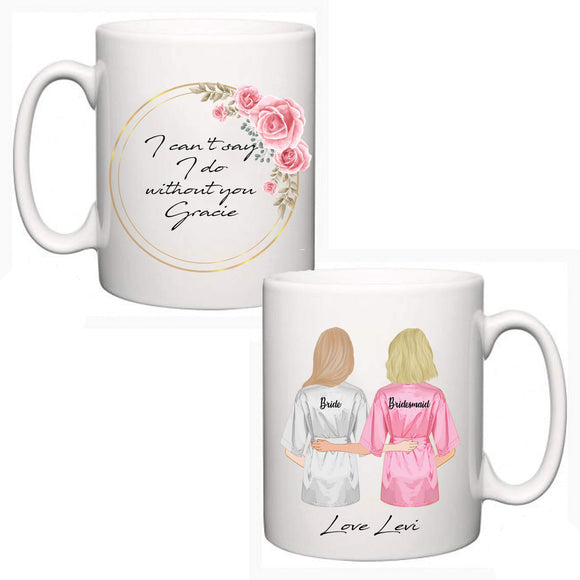 Personalised  Bridesmaid/Maid of Honour Mug 1