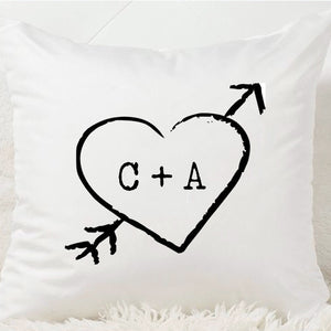 Sweetheart Initials Cushion - Fizzy Strawberry Gifts