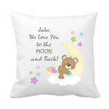 Moon And Back Printed  Cushion - Fizzy Strawberry Gifts
