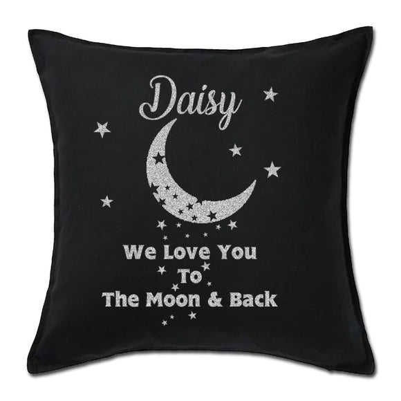 Moon And Back Vinyl  Cushion - Fizzy Strawberry Gifts