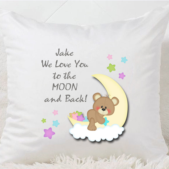 Moon And Back Printed  Cushion