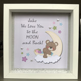 Moon And Back Printed  Frame - Fizzy Strawberry Gifts