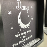 Moon And Back Vinyl Frame - Fizzy Strawberry Gifts