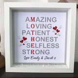 Mum Mother Acrostic Frame - Fizzy Strawberry Gifts