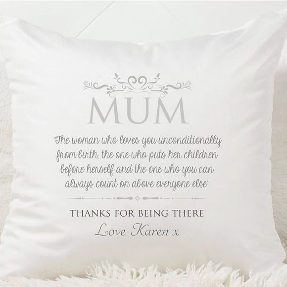Mum Definition Cushion - Fizzy Strawberry Gifts
