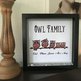 Mum Owl Family Frame - Fizzy Strawberry Gifts