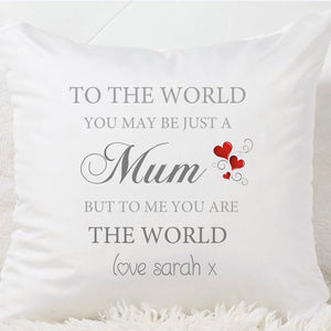 Mum To The World Cushion - Fizzy Strawberry Gifts