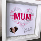 Mum Wordcloud Heart Frame - Fizzy Strawberry Gifts