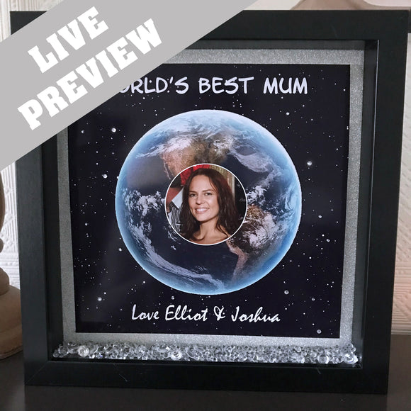 World's Best Mum or Nan Frame - Fizzy Strawberry Gifts
