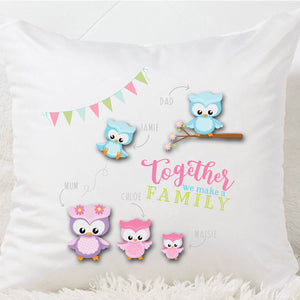 Together We Make A Family Cushion - Fizzy Strawberry Gifts