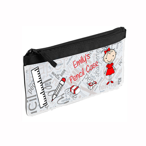 Personalised Girls Pencil Case - Fizzy Strawberry Gifts