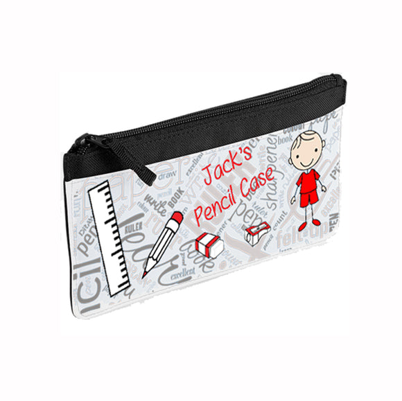 Personalised Boys Pencil Case - Fizzy Strawberry Gifts