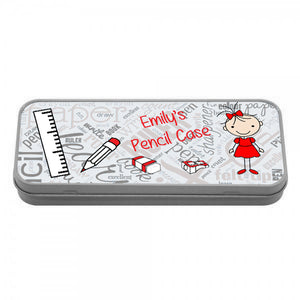 Personalised Girls Pencil Tin - Fizzy Strawberry Gifts