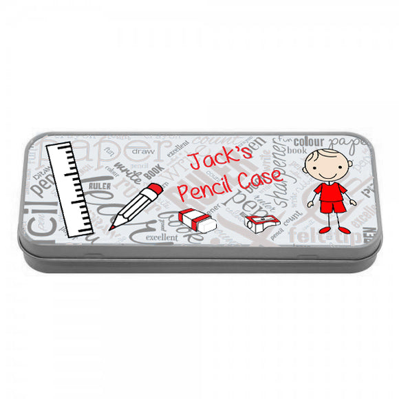 Personalised Boys Pencil Tin - Fizzy Strawberry Gifts