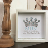 Mum Queen Of Our World Frame - Fizzy Strawberry Gifts