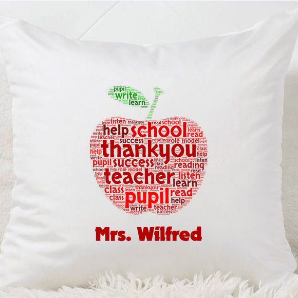 Thank you Teacher Cushion (Apple)