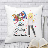 Thank you Teacher Cushion (Cartoon) - Fizzy Strawberry Gifts