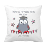 Thank you Teacher Cushion (Fly) - Fizzy Strawberry Gifts