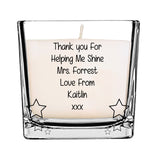 Thank you Teacher Candle - Fizzy Strawberry Gifts