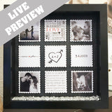 Valentines Love Squares Frame - Fizzy Strawberry Gifts