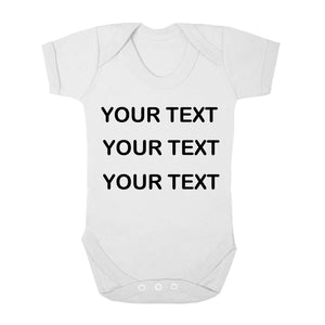 Personalised Baby Vest - Your Text (Black) - Fizzy Strawberry Gifts