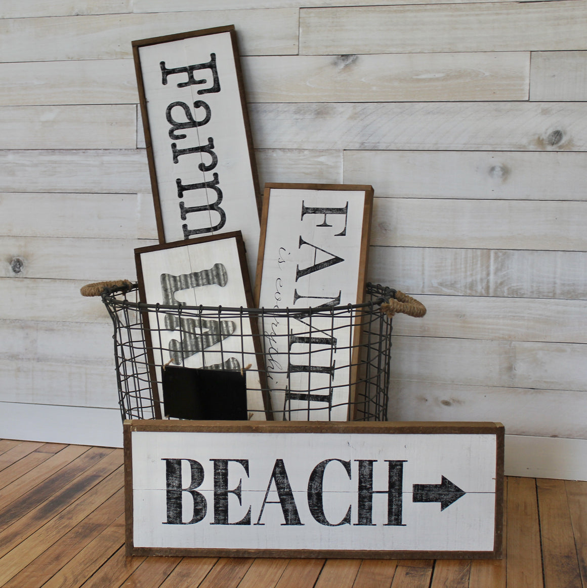 Farmhouse signs, beach sign, lake sign, cottage by One Cottage Way
