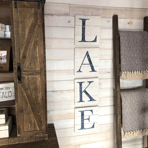 LAKE Letters Sign