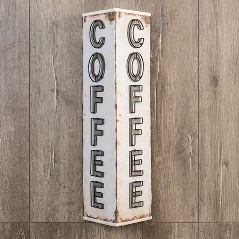 Vintage style coffee two sided marquee sign