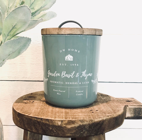 Garden Basil & Thyme Farmhouse Candle