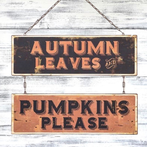 Autumn Leaves, Pumpkins Please Sign