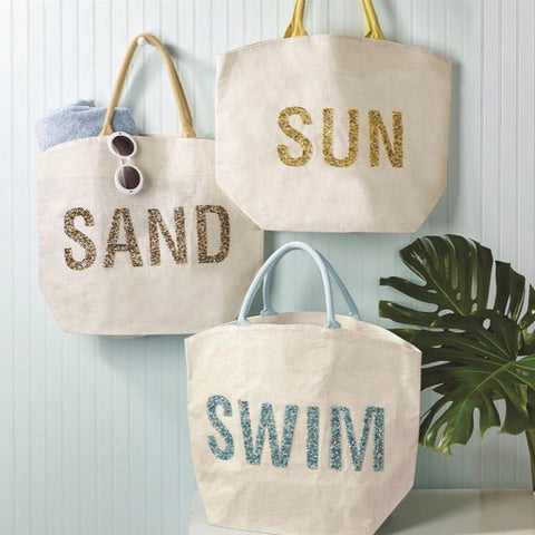Sun, Sand, and Swim Beach Totes